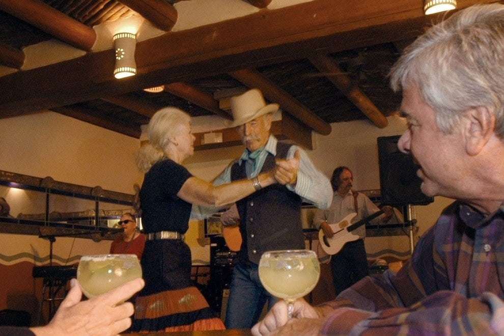 Western swing dancers in La Fiesta Lounge