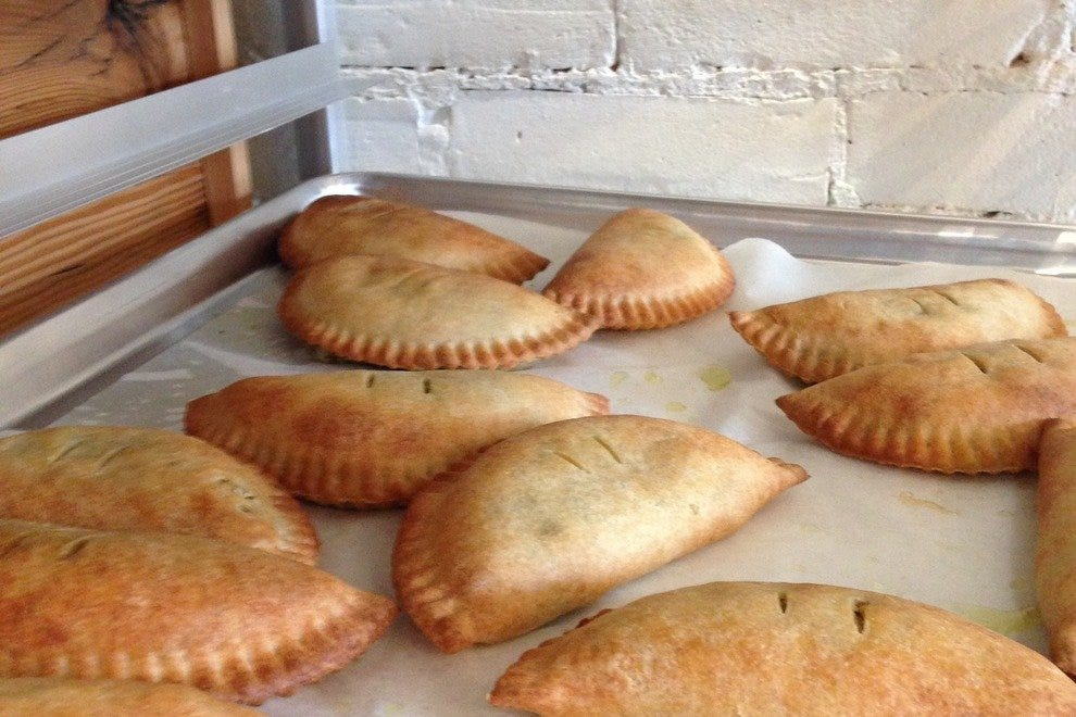Pies hot from the oven
