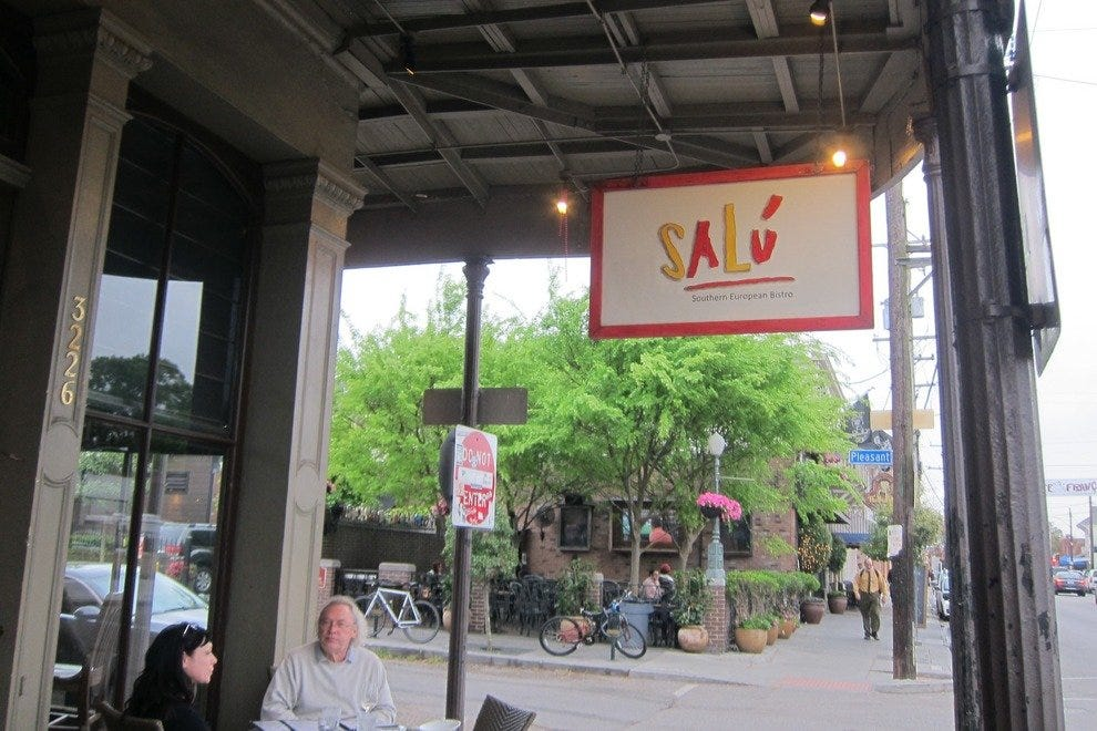 Salu Bistro offers outside seating along Magazine Street in New Orleans