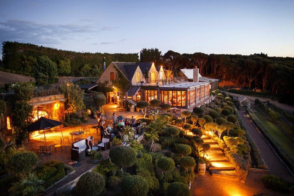 Take the ferry from Auckland to a special dinner at Mudbrick Vineyards.