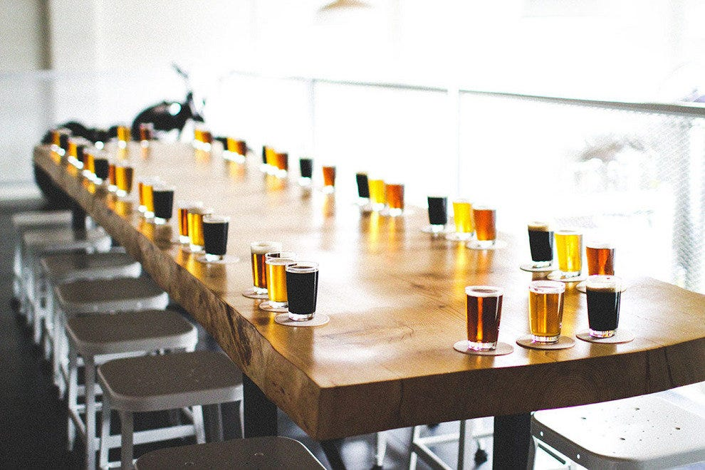 While in Vancouver, relax with brews like these at 33 Acres Brewing Co.
