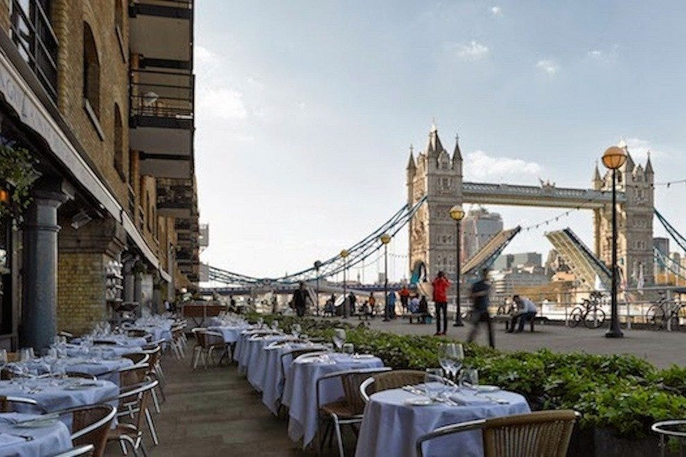Le Pont de la Tour restaurant, located on the Southbank
