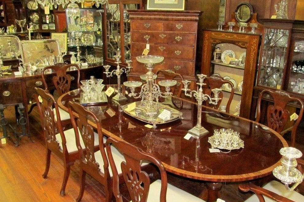 Antique furniture and silver at Geo. C. Birlant & Co. — Photo courtesy of  Geo. C. Birlant & Co. - Shop Birlant & Co. For Timeless English Antiques, Silver