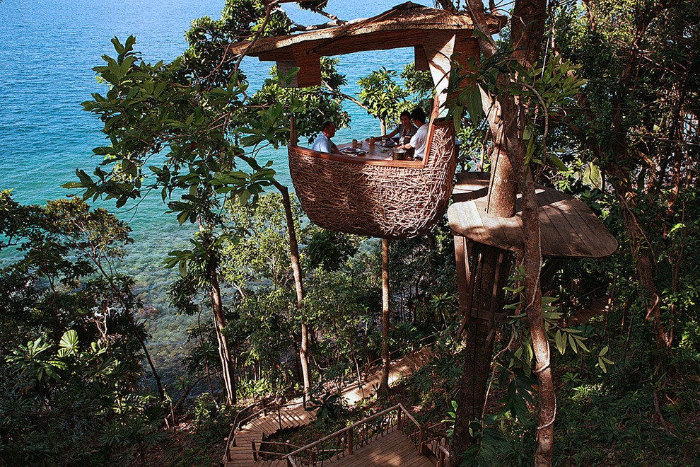 Tree Pod Dining at the Soneva Kiri