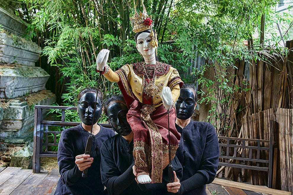 Thai folklore puppetry comes to life at Baan Silapin