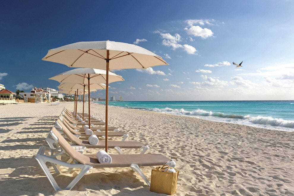 Beach Palace is located on one of Cancun's biggest beaches