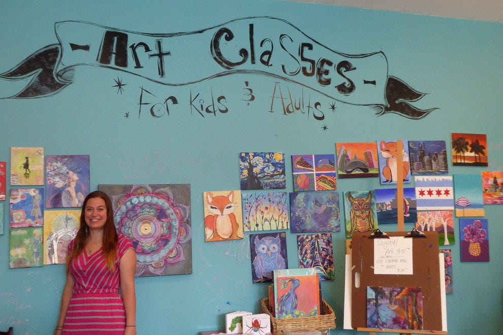 Nicole Northway offers arts and crafts classes to adults and kids at One Strange Bird