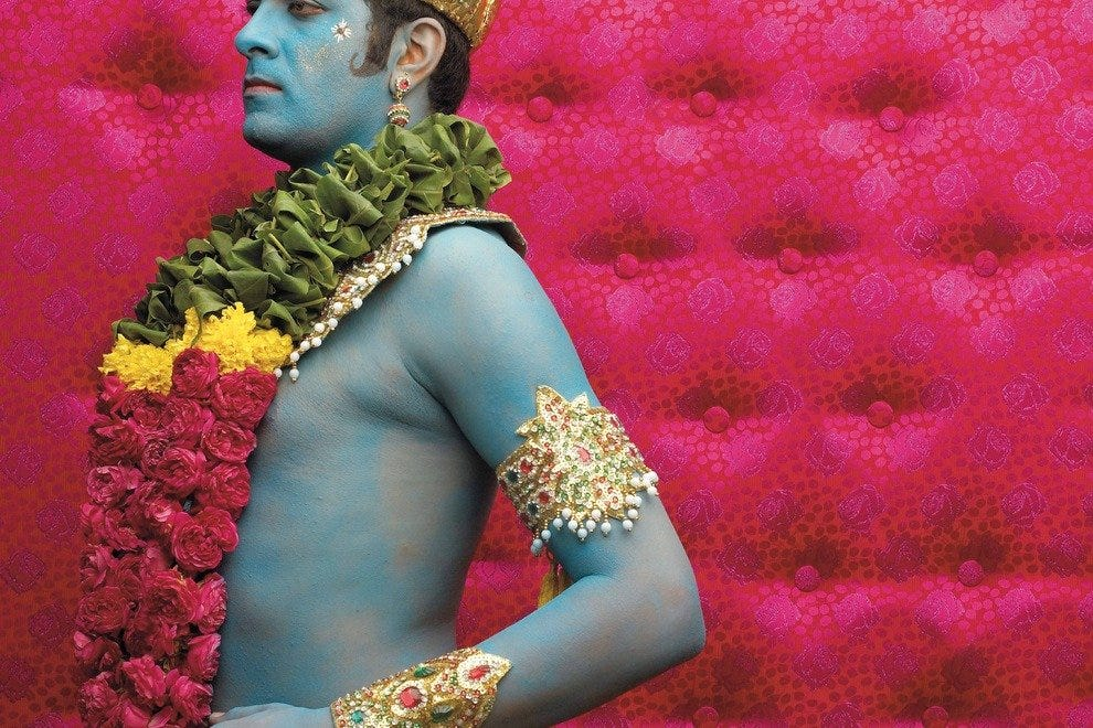 "Seattle Art Museum visitors can feast their eyes on this gem – ""Reassurance"" (color photograph) – from the ""Definitive Reincarnate"" series, 2006, Nandini Valli Muthiah, Indian, b. 1976"