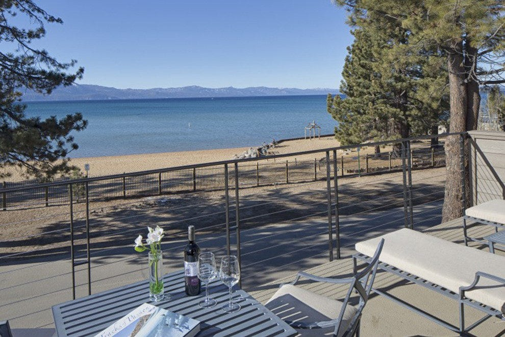 At The Landing Resort & Spa, most rooms have decks with views of the lake