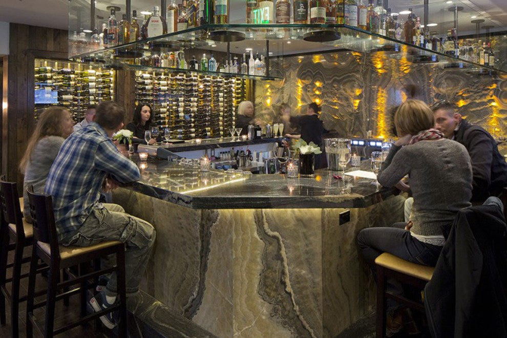 The glass wine bar at Jimmy's