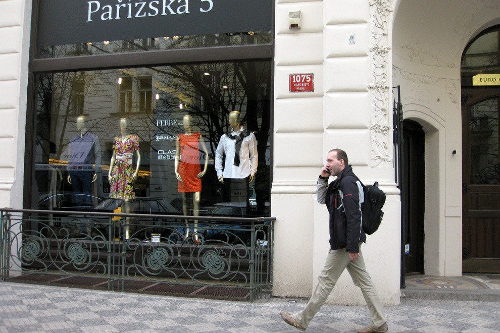 Shopping in Prague should include a stop at Dior, 5 Prarizska Ave.
