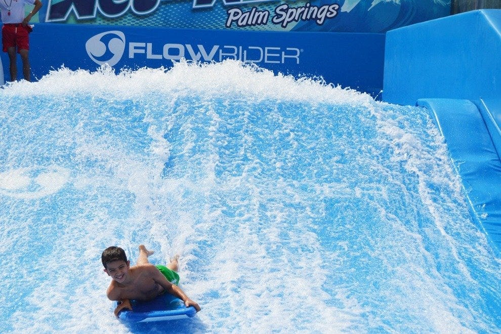 The Flowrider at Wet 'n Wild Palm Springs