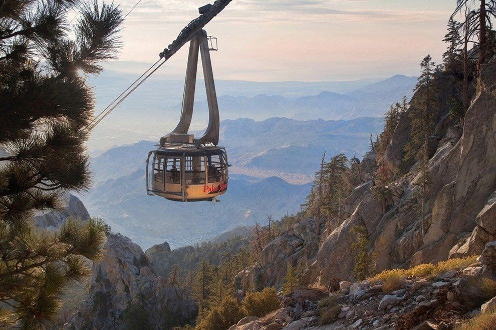 Enjoy the view from the Palm Springs Aerial Tramway