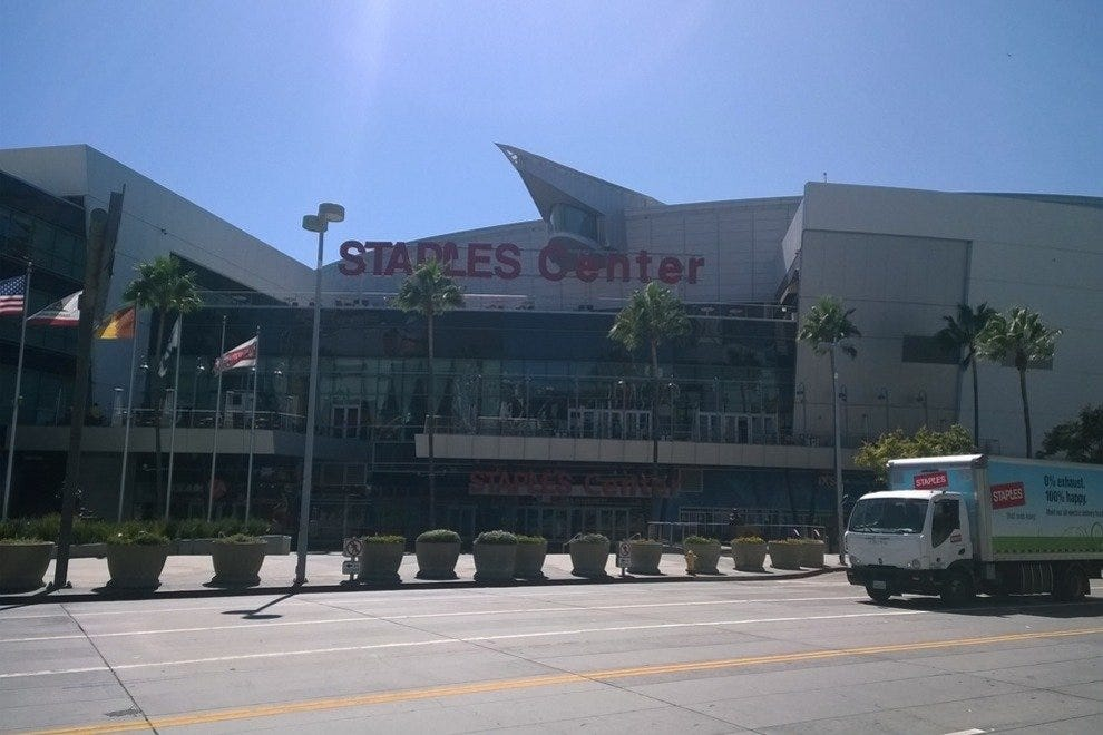 The Staples Center in Los Angeles, home to the Clippers, Kings and Lakers
