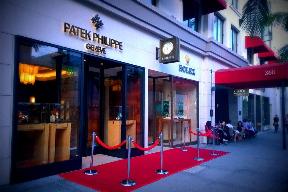 Find your style with Rolex and Philip Patek on Rodeo Drive
