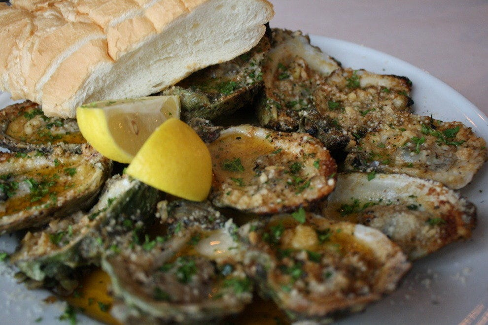 The Cookhouse's charbroiled oysters