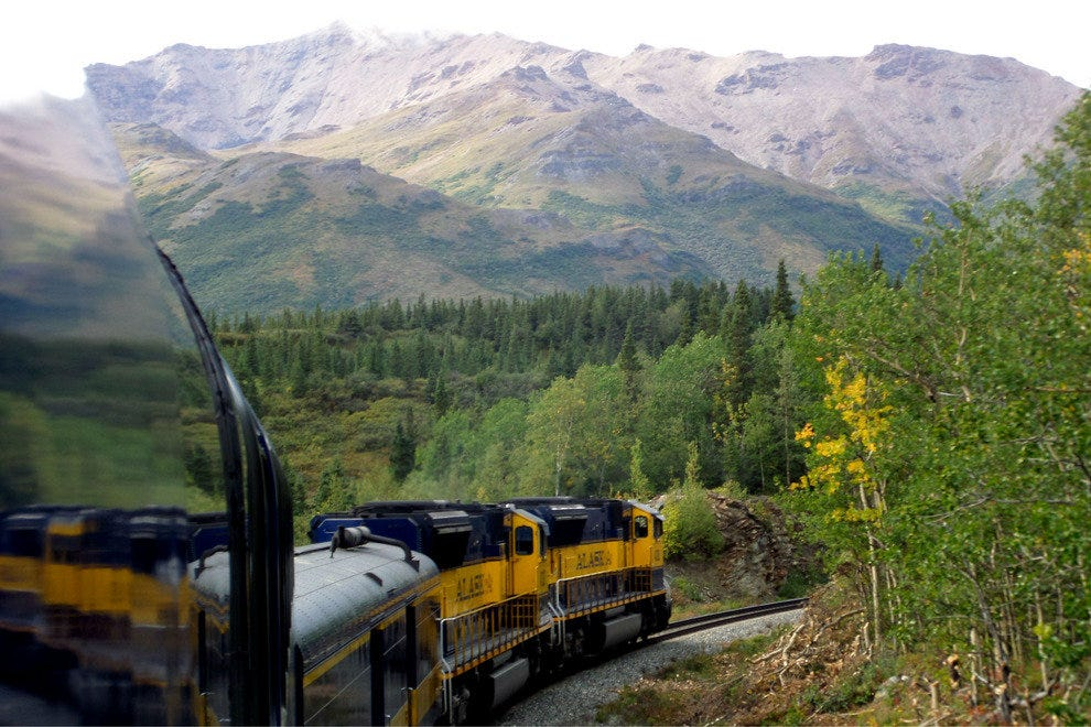 Iconic scenery aboard the Alaska Railroad