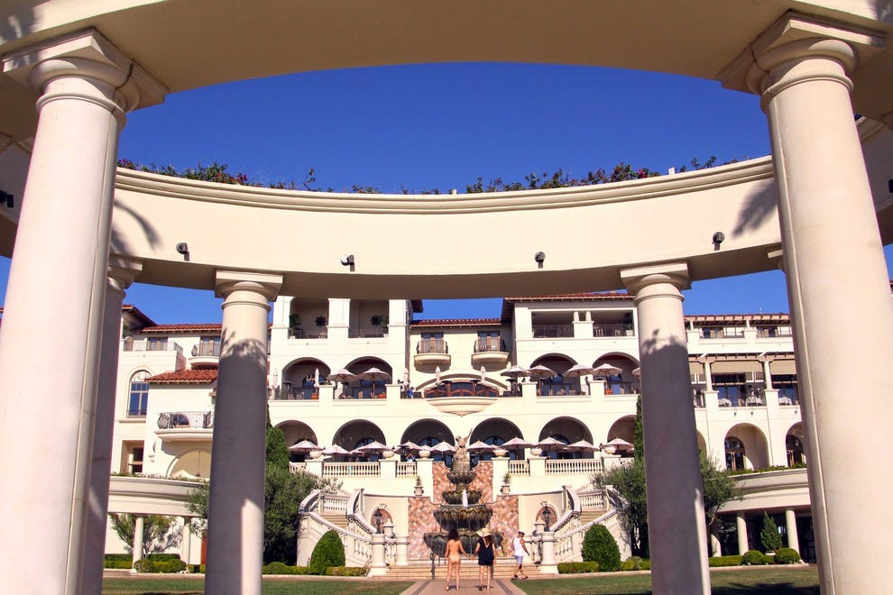 The St. Regis Monarch Beach Resort features Italian-themed architecture.