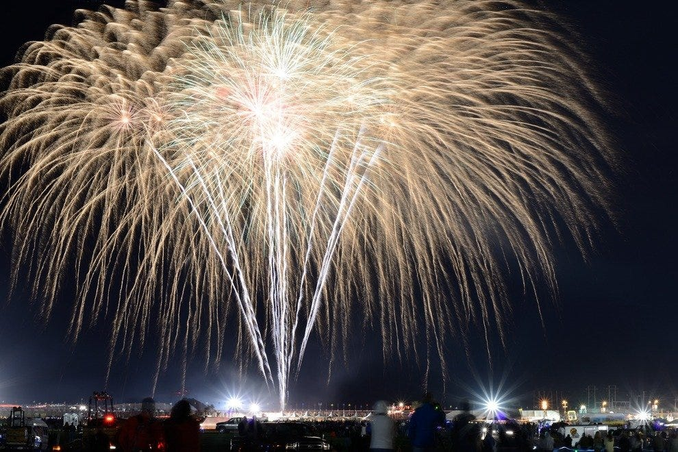 After the balloon glows on Oct. 4, 5, 9, 10 and 11, fireworks continue to light up Albuquerque's night sky. These shows, the largest in New Mexico, have become an attraction even when conditions are such that balloons can't inflate for the evening glows.