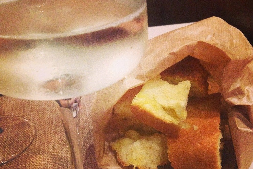 Pepper Restaurant's local wine and divine homemade bread