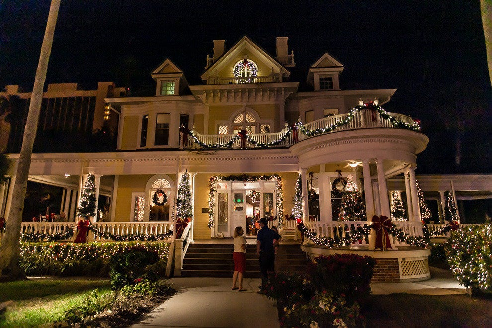 The Burroughs Home comes alive with lights for the Holiday House event