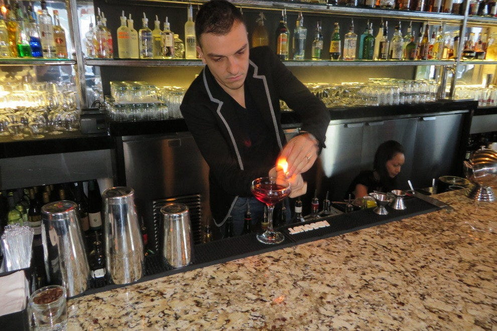 Julien at East Thirty-Six, working his drink magic