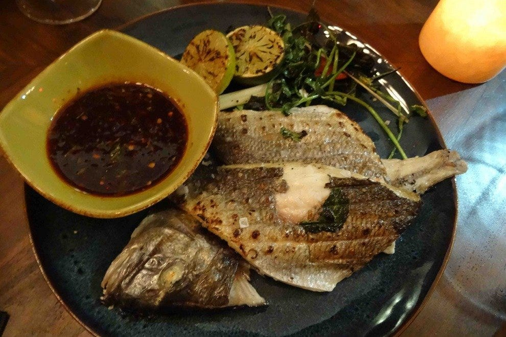 The Crispy Tai Snapper is one of the delicious signature dishes at Hutchinson