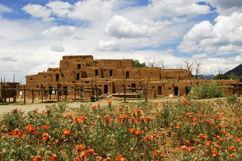 The Taos Pueblo is one of the longest continuously inhabited areas