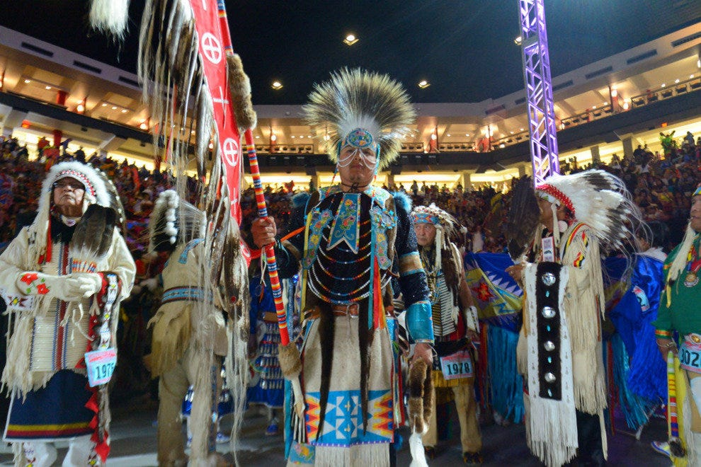 The Gathering of Nations is the largest tribal gathering in the world