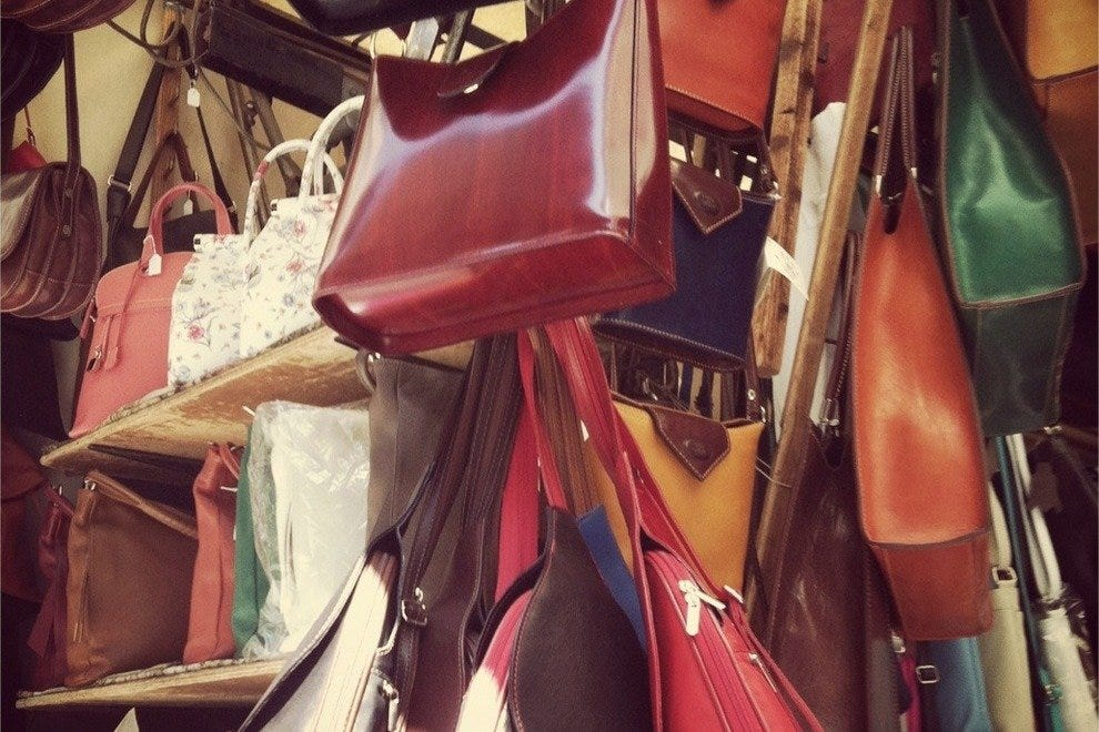 Some fabulous purses at the Mercato Nuovo