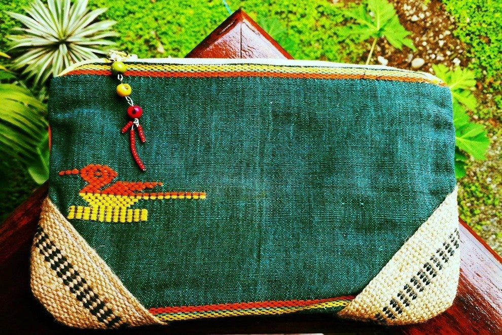 Rasta bird boho clutch by Monkey Bizness, one of many artistic offerings at Luna de Febrero
