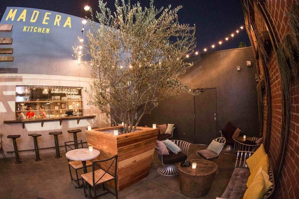 Madera Kitchen's convivial outdoor patio