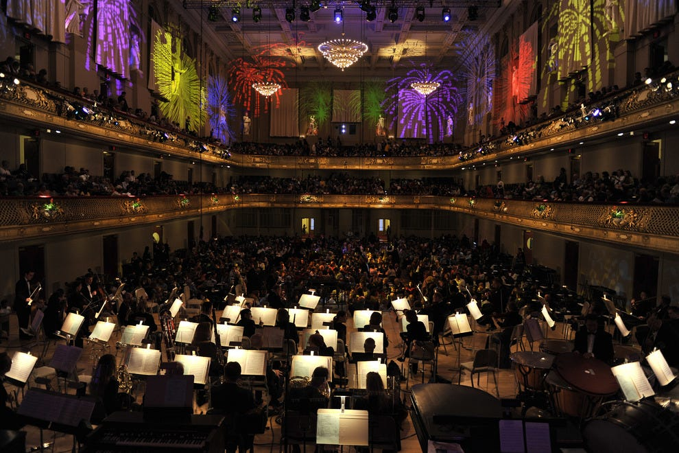 Fireworks within the Walls of the Boston Symphony Hall