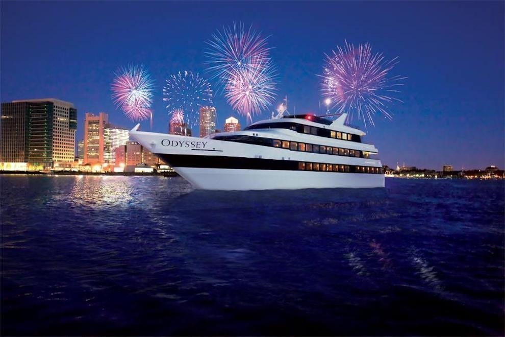 Watch the fireworks while on Boston Harbor