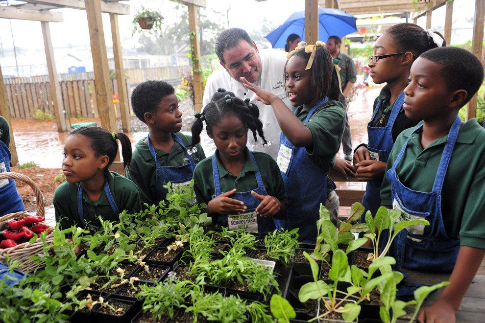 The Emeril Lagasse Foundation supports Edible Schoolyard New Orleans