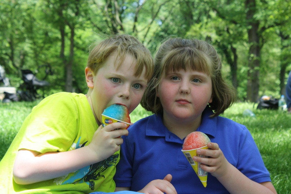 Sno Cones in Central Park, NYC
