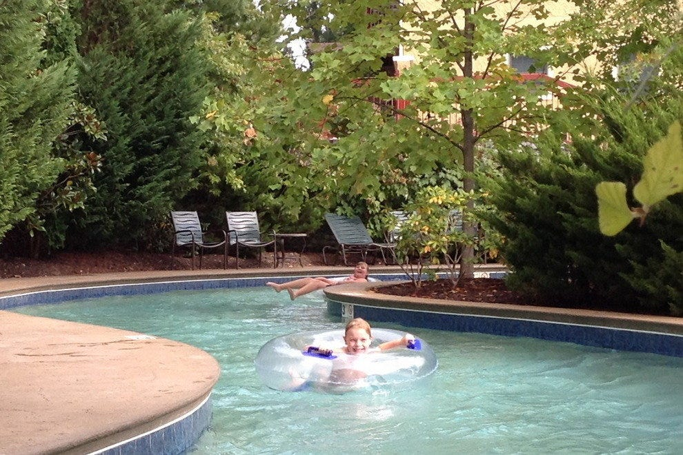 Enjoying the lazy River in Pigeon Forge, TN