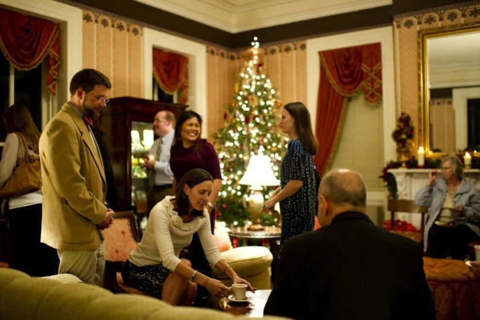 At the Holiday Progressive Dinner, you can get warm and cozy among new friends and old