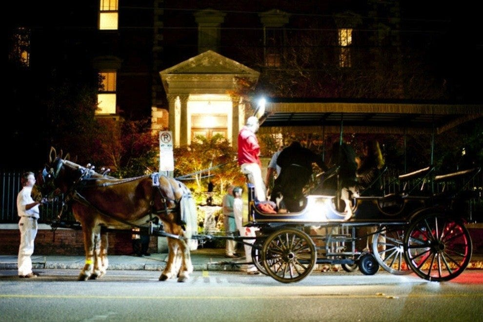 Travel by carriage between the Holiday Progressive Dinner courses