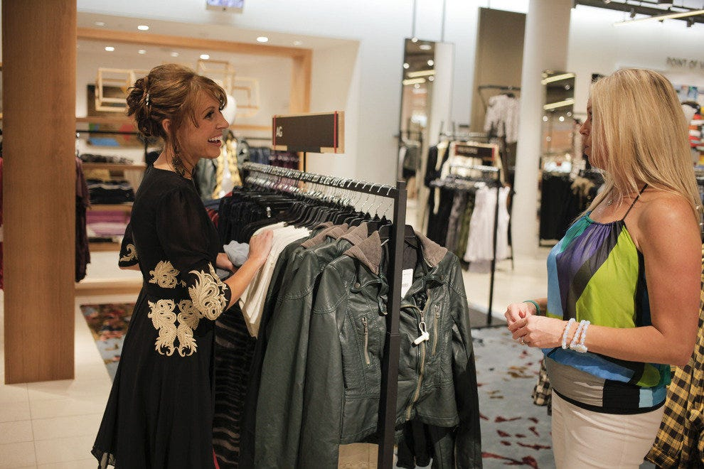 Personal stylists are available at Nordstrom Department store at the St. Johns Town Center