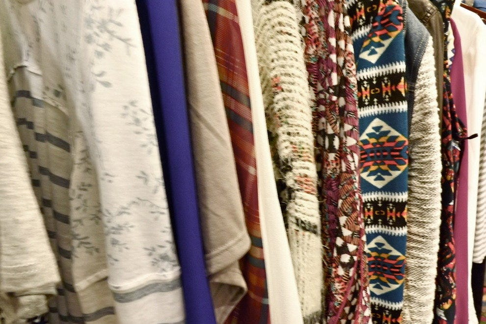 Bold patterns and prints on the racks at House of Sage