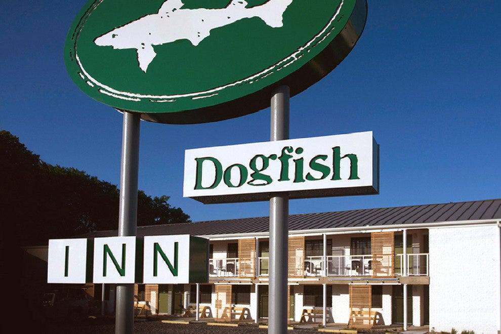 Dogfish Head Brewing Co. opened this beer motel in Lewes, Delaware, in 2014.