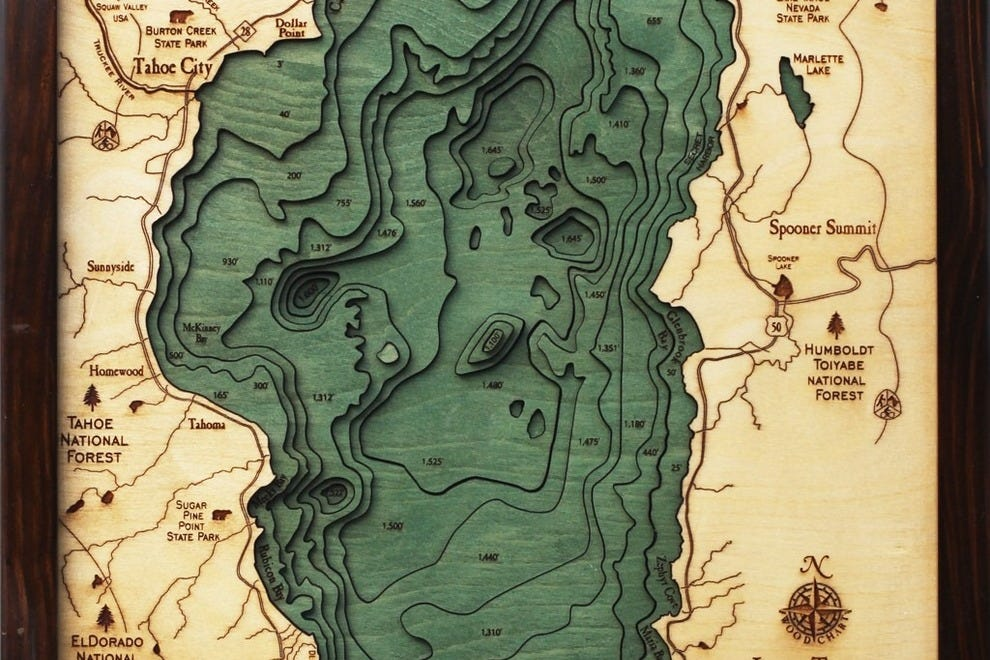 Cabin Fever Features Mountain Decor, Unusual Lake Maps