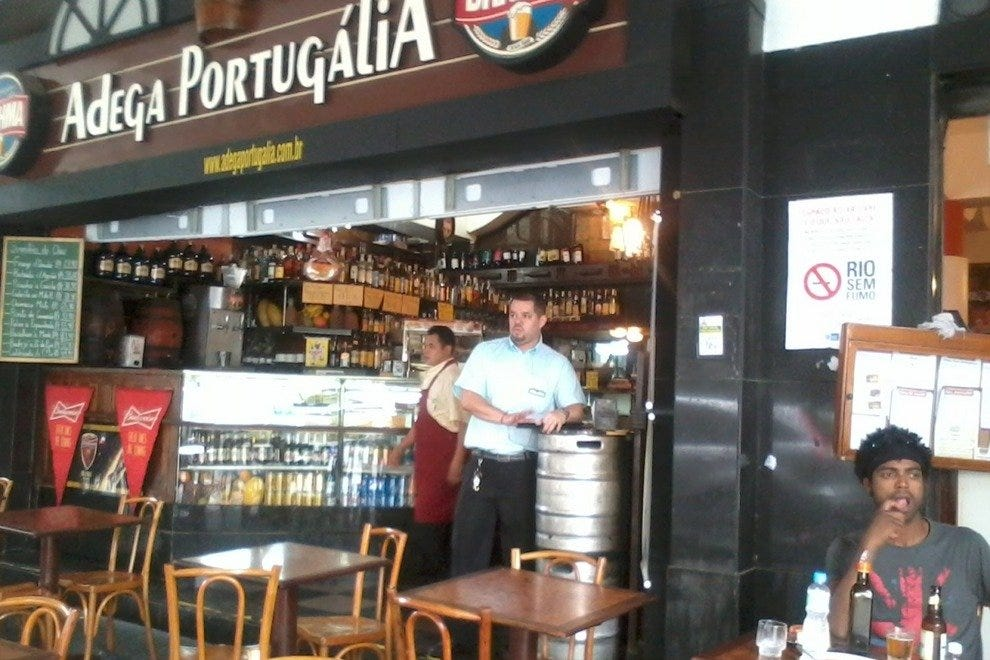 Adega Portugalia is a pleasant place for eating, drinking and people watching