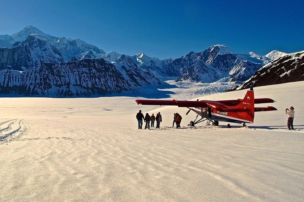 Touchdown on the glacier