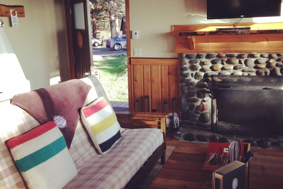Log cabin charm meets modern comfort at Iron Springs