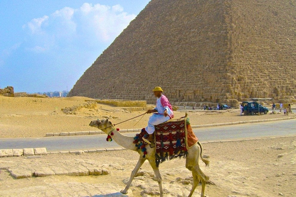 The Egyptian pyramids at Giza and archeological sites such as Luxor on the Nile River are most easily visited by cruise.