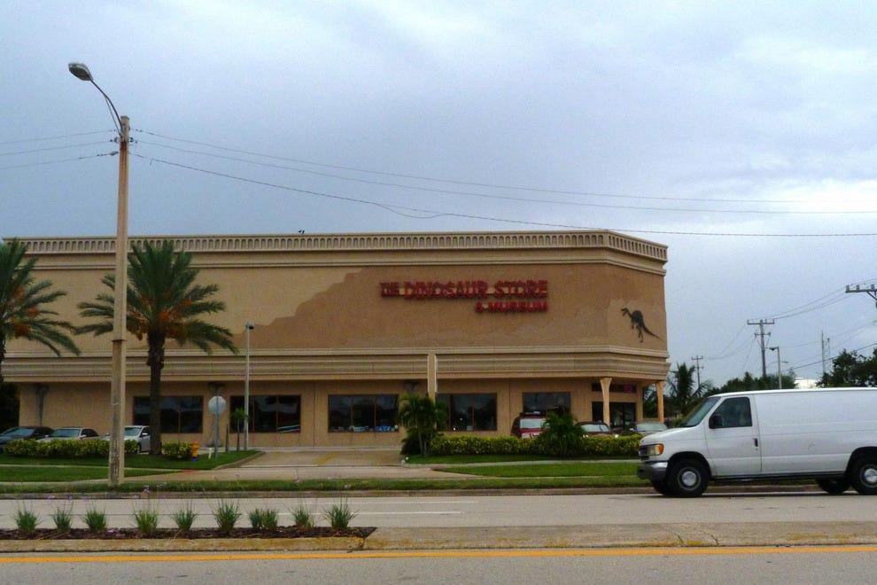 可可海滩附近的恐龙商店提供世界上最大的矿物和化石库存。