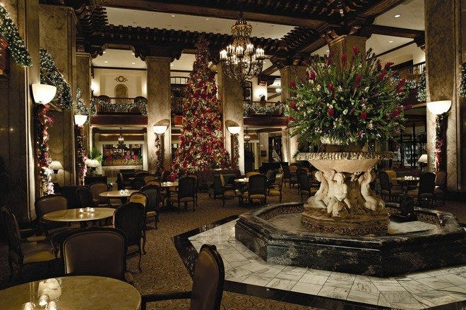 Christmas at the Peabody Hotel