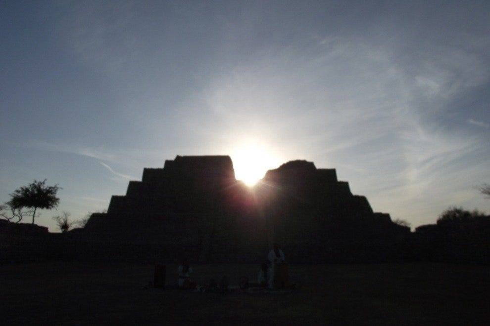 See the Sun Rise Over an Ancient Pyramid